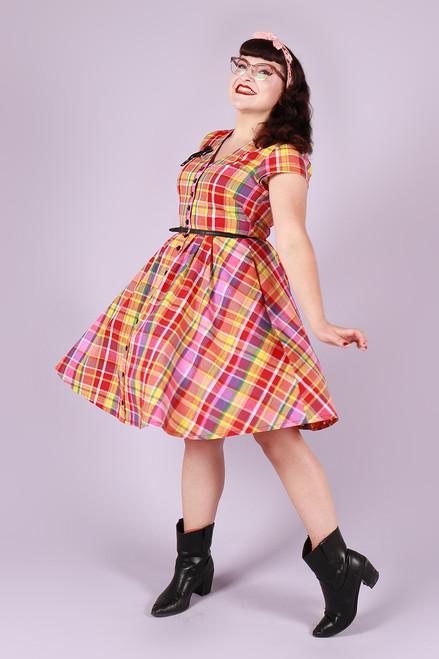 Saski Dress Perfect Plaid