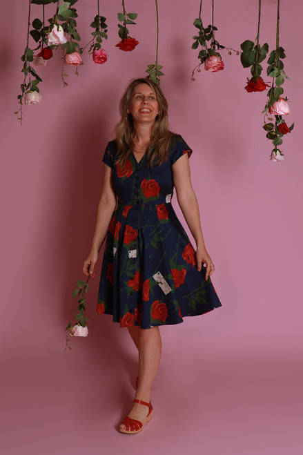 Saski Dress Sweetheart Roses