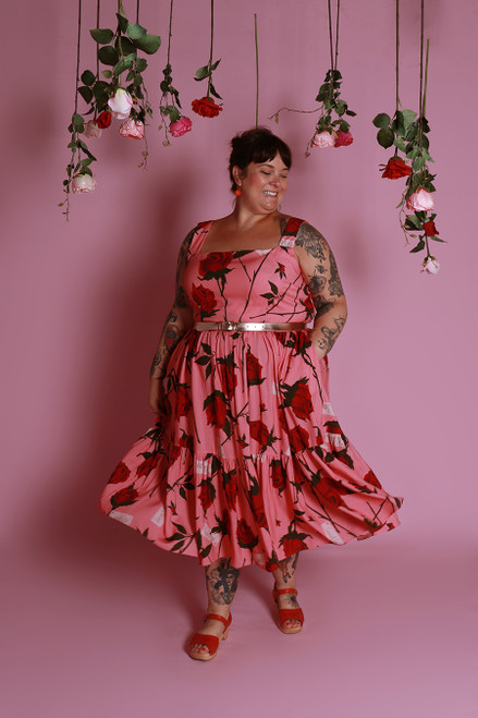 Rayna Dress Sweetheart Roses