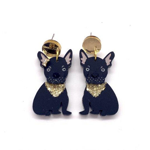 Douglas and Daisy Frenchie 2 Dangles Black