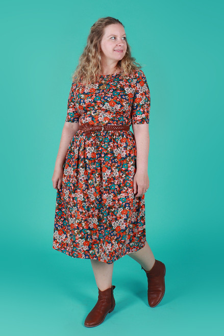 Winnie Reversible Dress Primrose Floral Mid