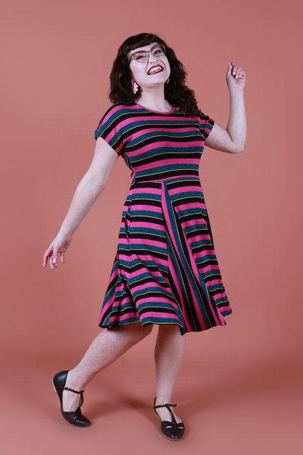 Ripley Reversible Dress Xanadu Stripe