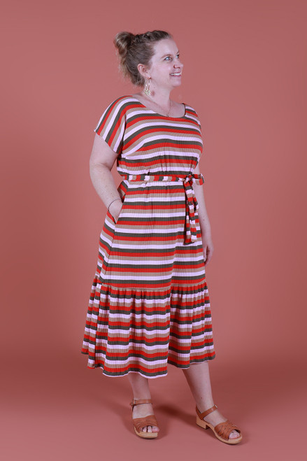 Rayna Tee Dress Retro Stripe