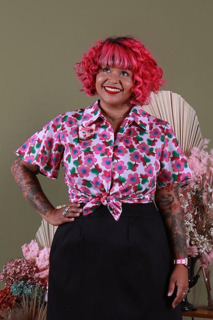 Shirley Shirt Flutter Liberty of London Love Pop