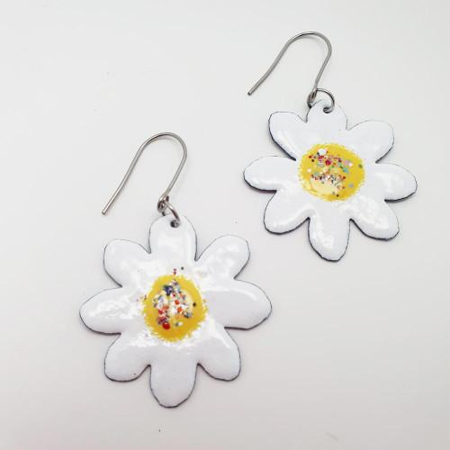 Enamel White Flowers