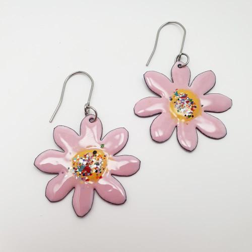 Enamel Pinky Flowers