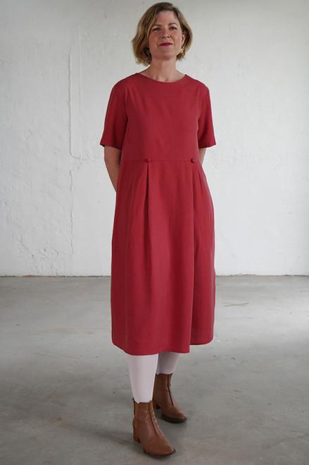 Mia Dress Plain Clay