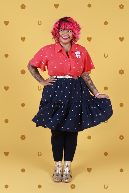 Rayna Skirt Navy Lucky Spot Short