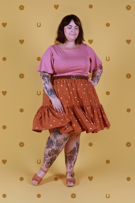Rayna Skirt Bronze Lucky Spot Short