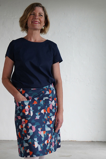 Niki Skirt Short Cirkel Blue
