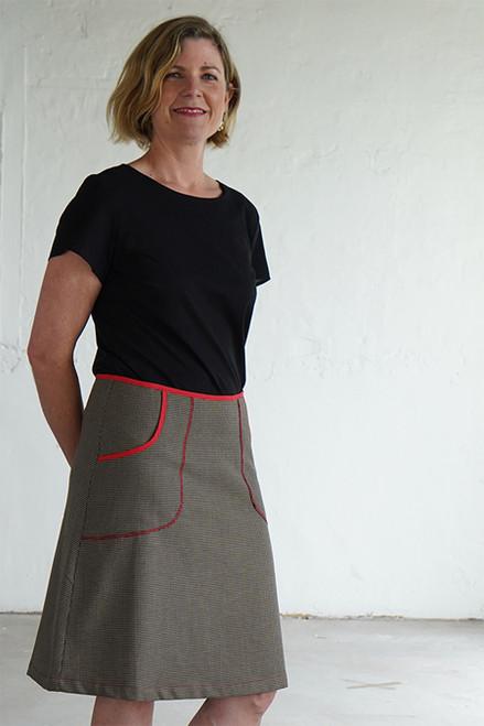 Avril Skirt Short Check Brown
