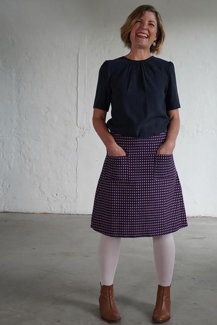 Niki Skirt Short Spots Blue