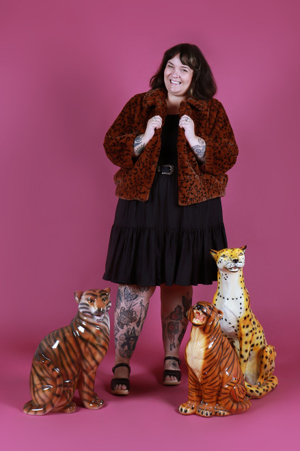 Gidget Coat Leopard Queen