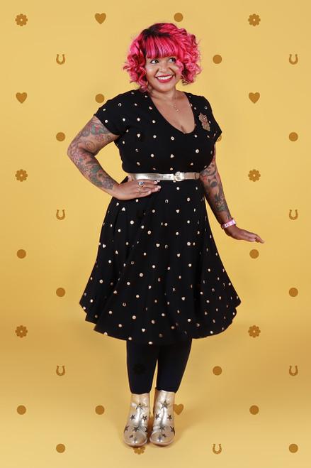 Ripley Reversible Dress Lucky Spot