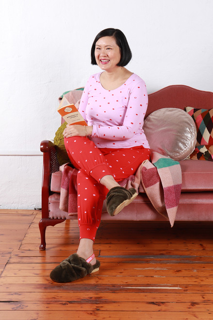 Comfy Pants Lucky Spot Red