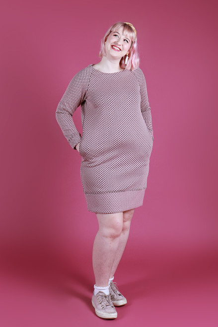 Sadie Dress Honeycomb Pink
