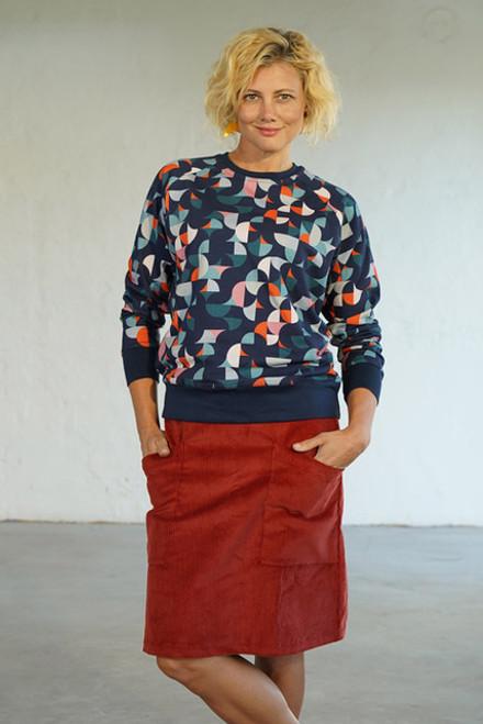Heidi Cord Skirt Brick