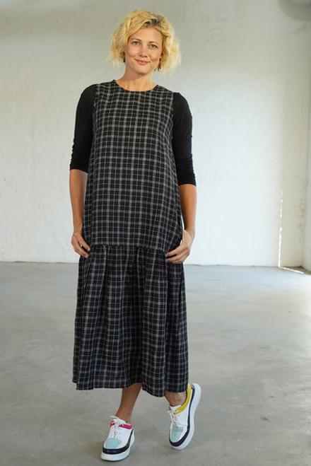 Frill Dress Blk Check
