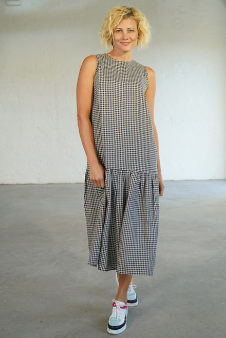 Frill Dress Blue Gingham