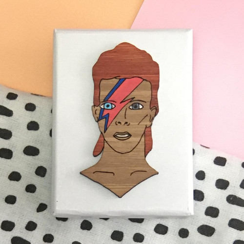David Bowie Brooch