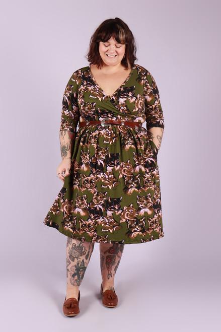 Winnie Dress Midi Meow