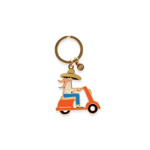 Enamel Keychain Scooter
