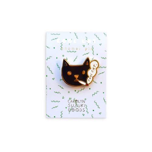 Enamel Pin Cool Cat