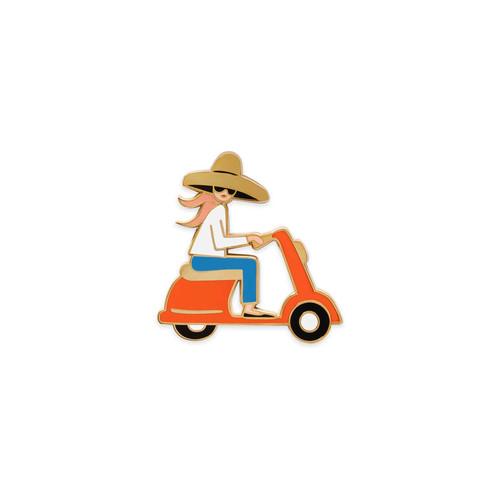 Enamel Pin Scooter