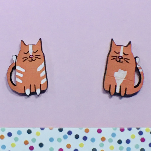 Cats Ginger Studs