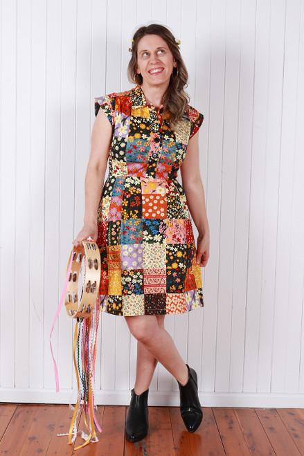 Trixie Dress Favourite Patchwork Floral