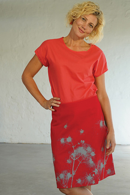 A-Line Skirt Short Disperal Red Dove