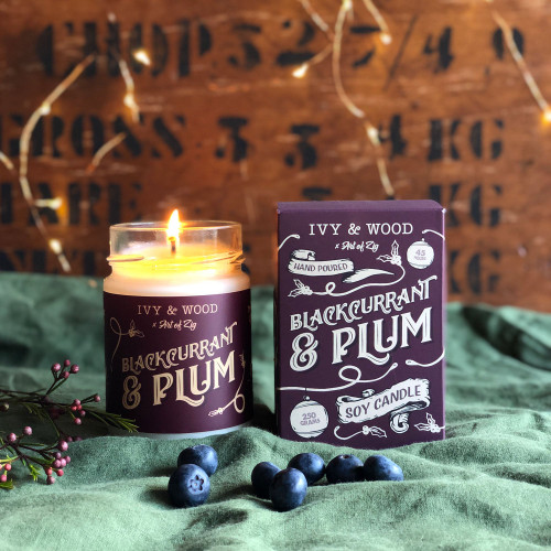 Black Currant and Plum Candle