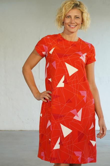 Olivette Dress Jersey Teki Coral
