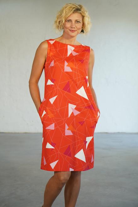 Audrey Dress Teki Coral