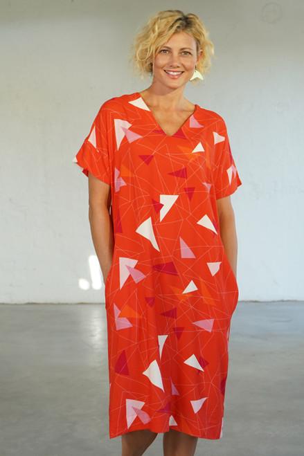 Elle Dress Teki Coral
