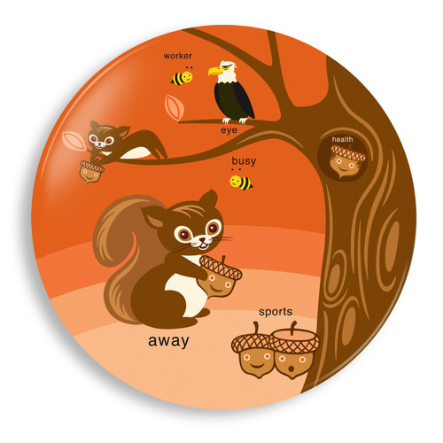 Squirrel Away Season Plate - Jane Jenni