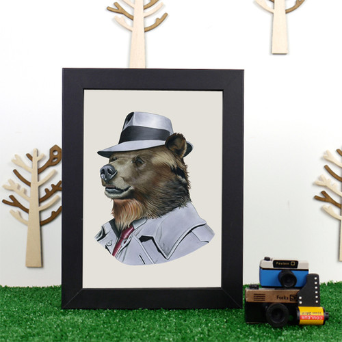 Ryan Berkley Grizzly Bear Framed Print