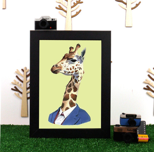 Ryan Berkley Giraffe Framed Print
