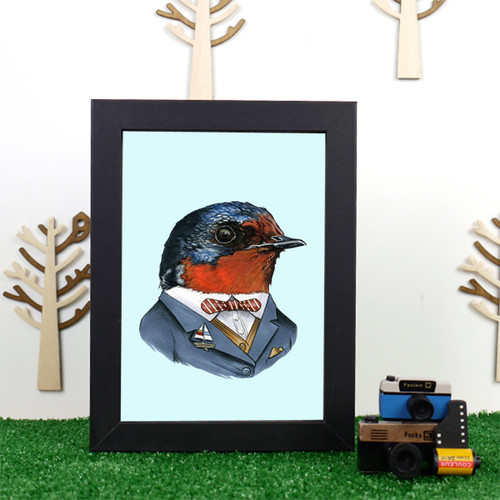 Ryan Berkley Swallow Framed Print