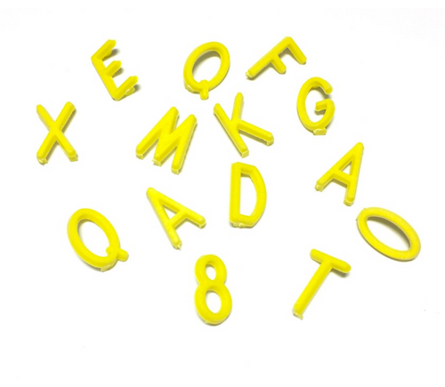 OMM Design - Medium Yellow Letters.