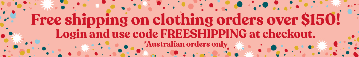 Free Shipping on all Clothing Orders