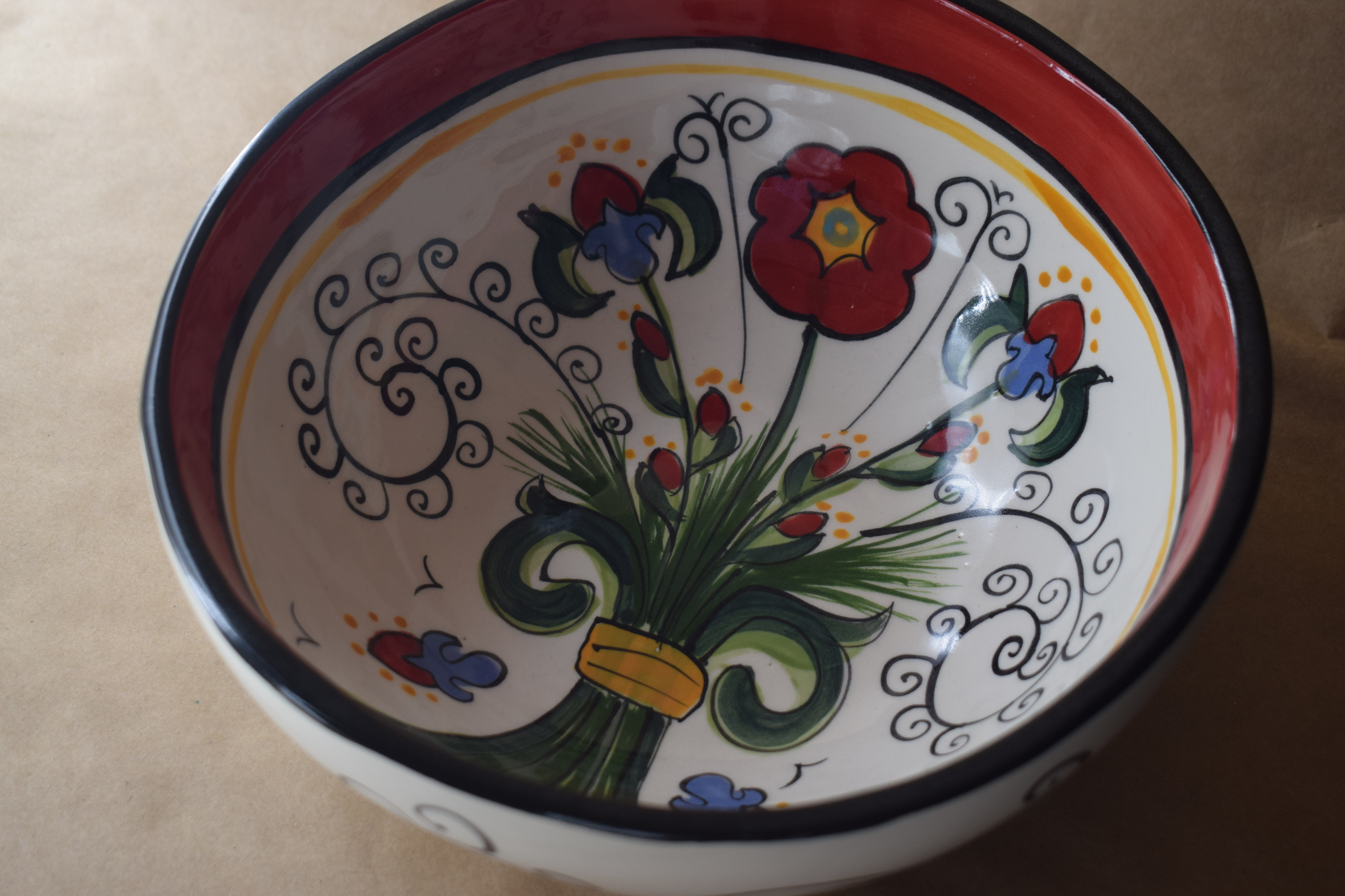 (MB24-VR) Medium Bowl- Venetian Red