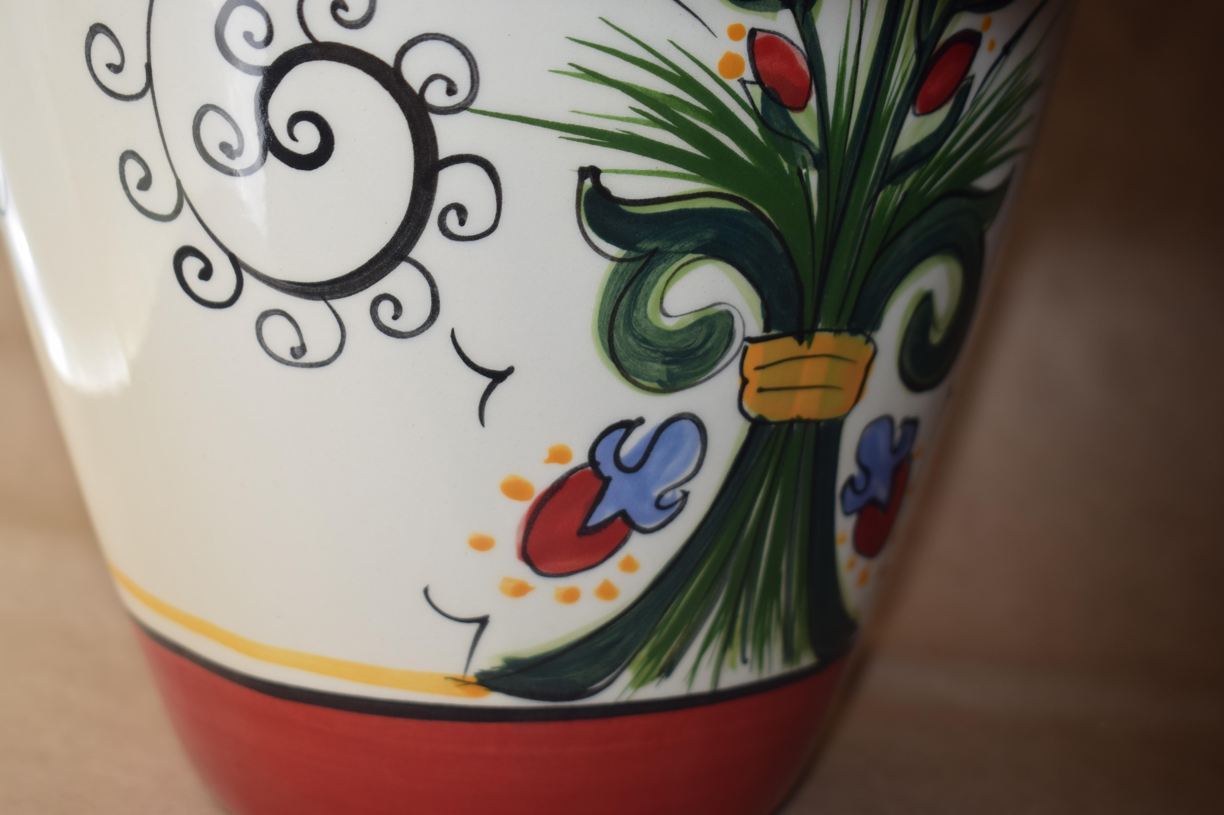 Rimless Tall Vase- Venetian Red