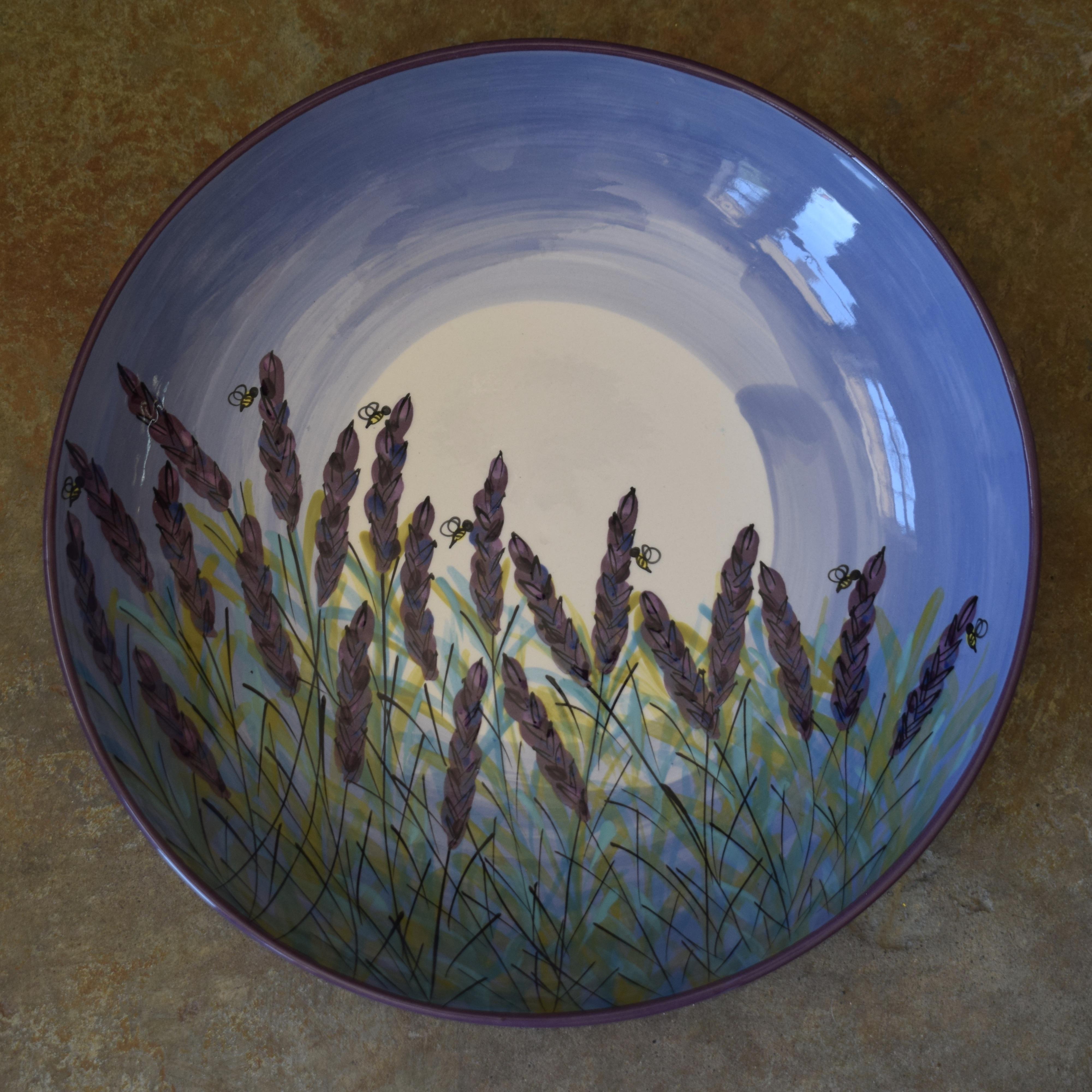 """(LB13-LM) 13"""" Large Bowl- Lavender Moon"""