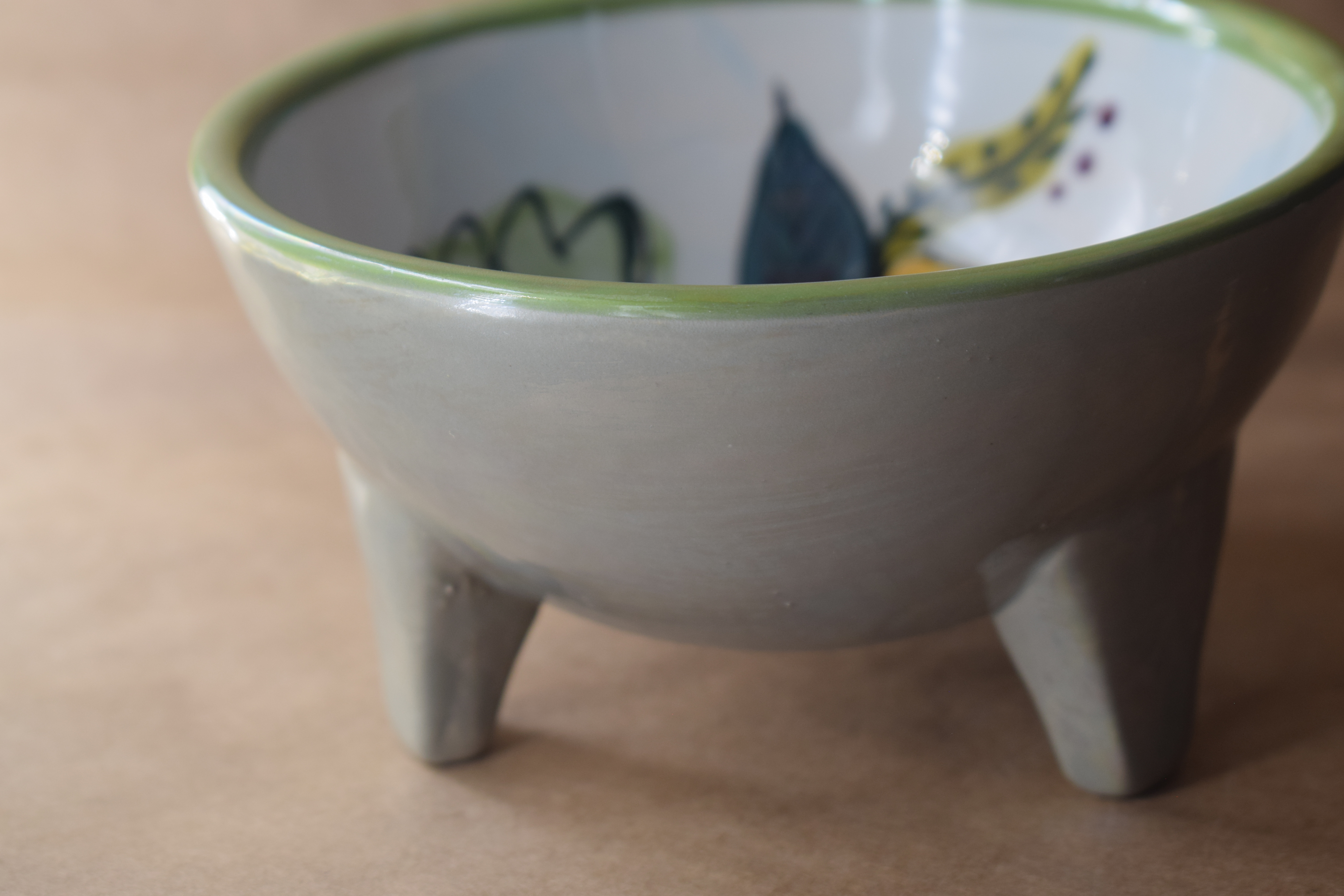 """(RFB05-JENNA) 5"""" Round Footed Bowl- Jenna Floral"""