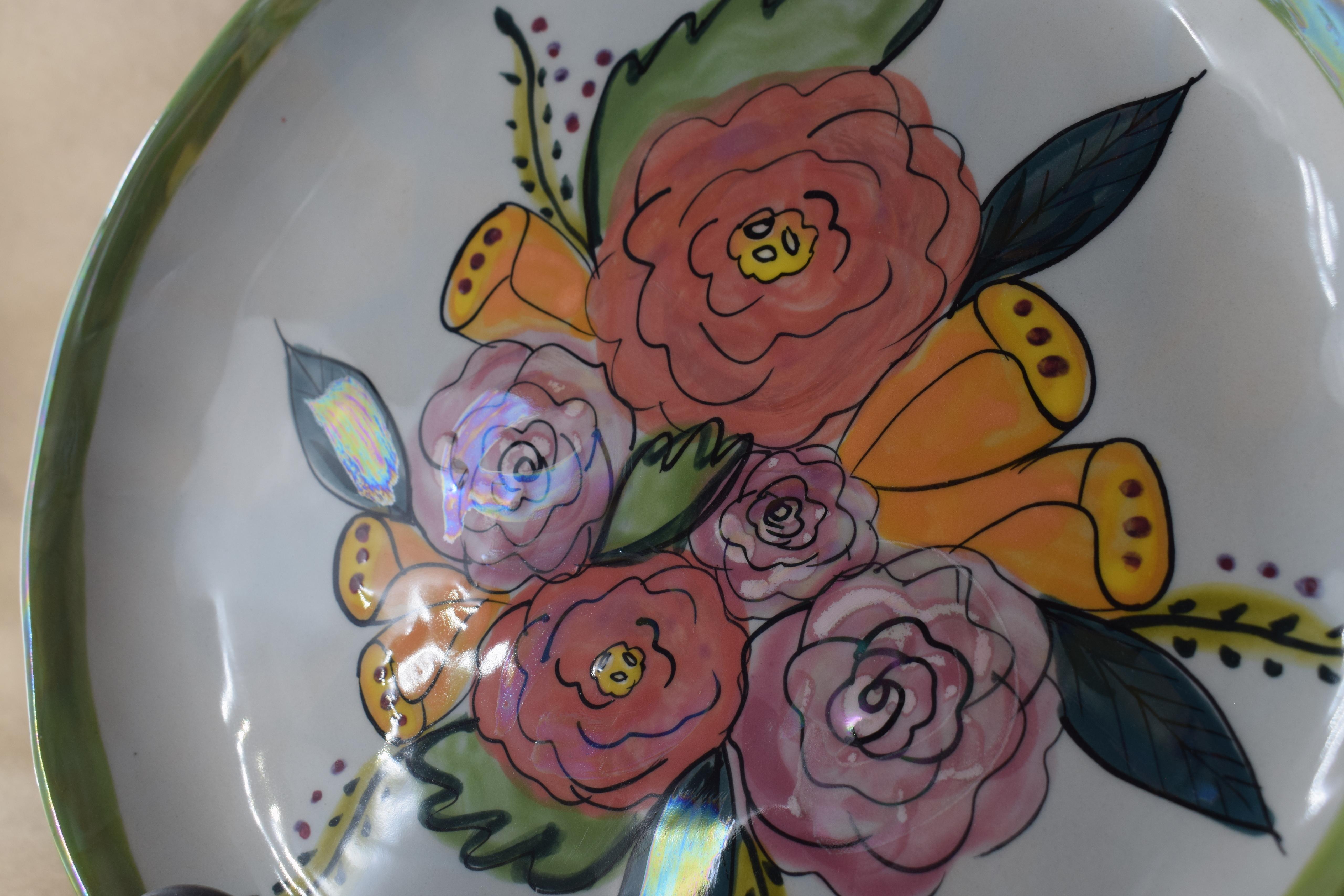 "10"" Dinner Plate- Jenna Floral"