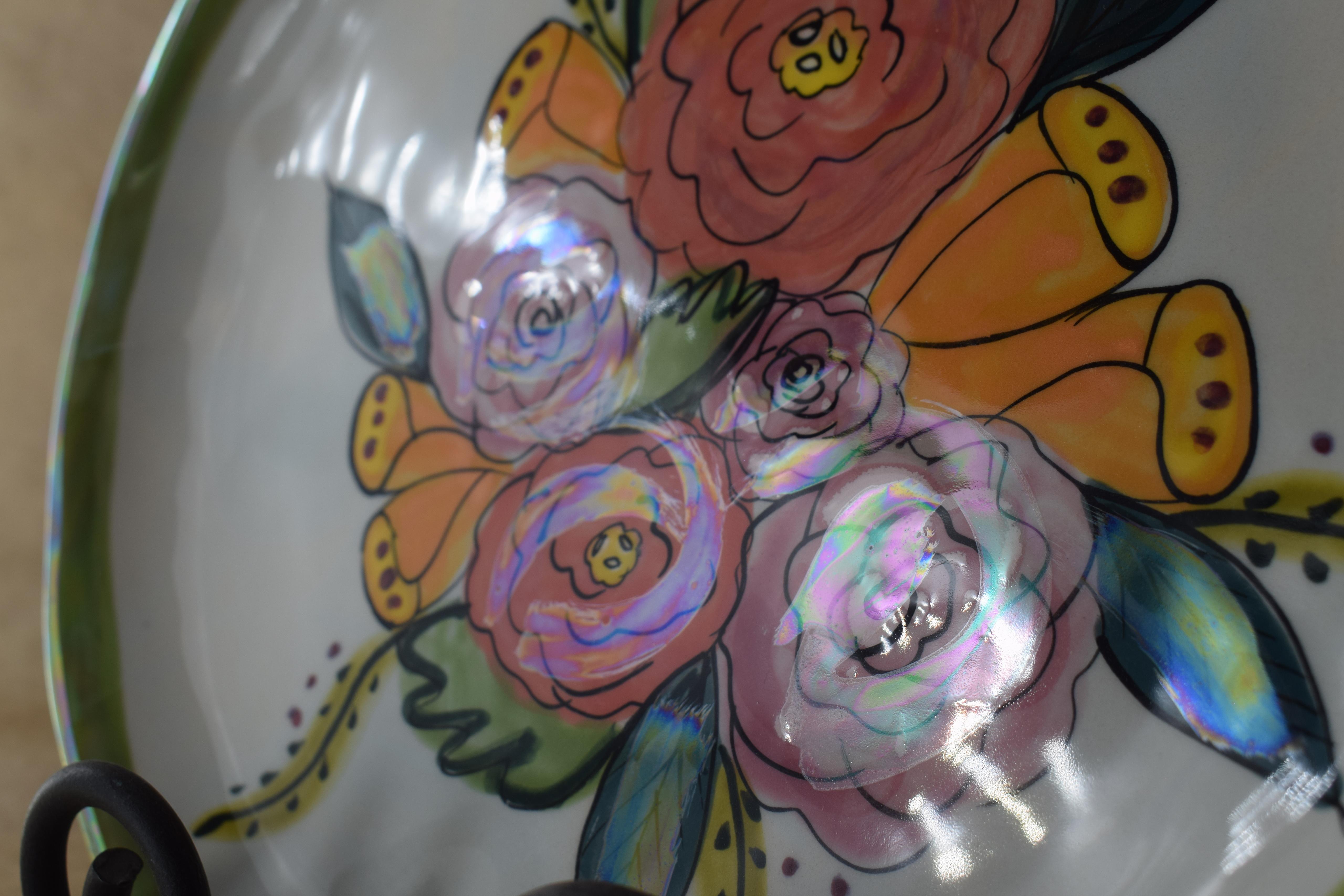 "(BI-DP10-JENNA) 10"" Dinner Plate- Jenna Floral"