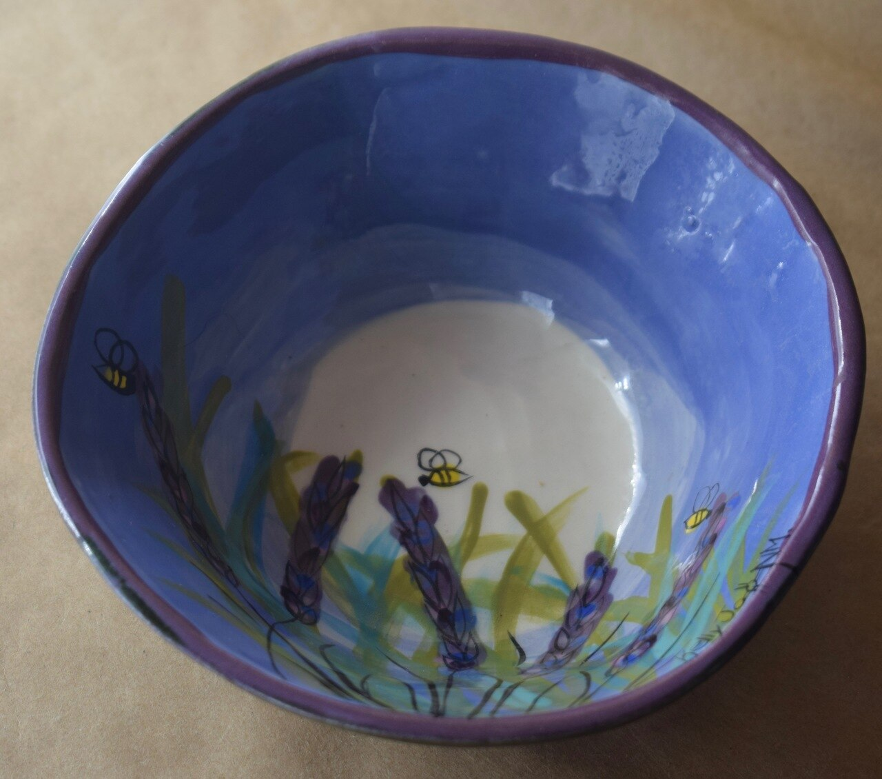 (CB06-LM) Cereal Bowl- Lavender Moon