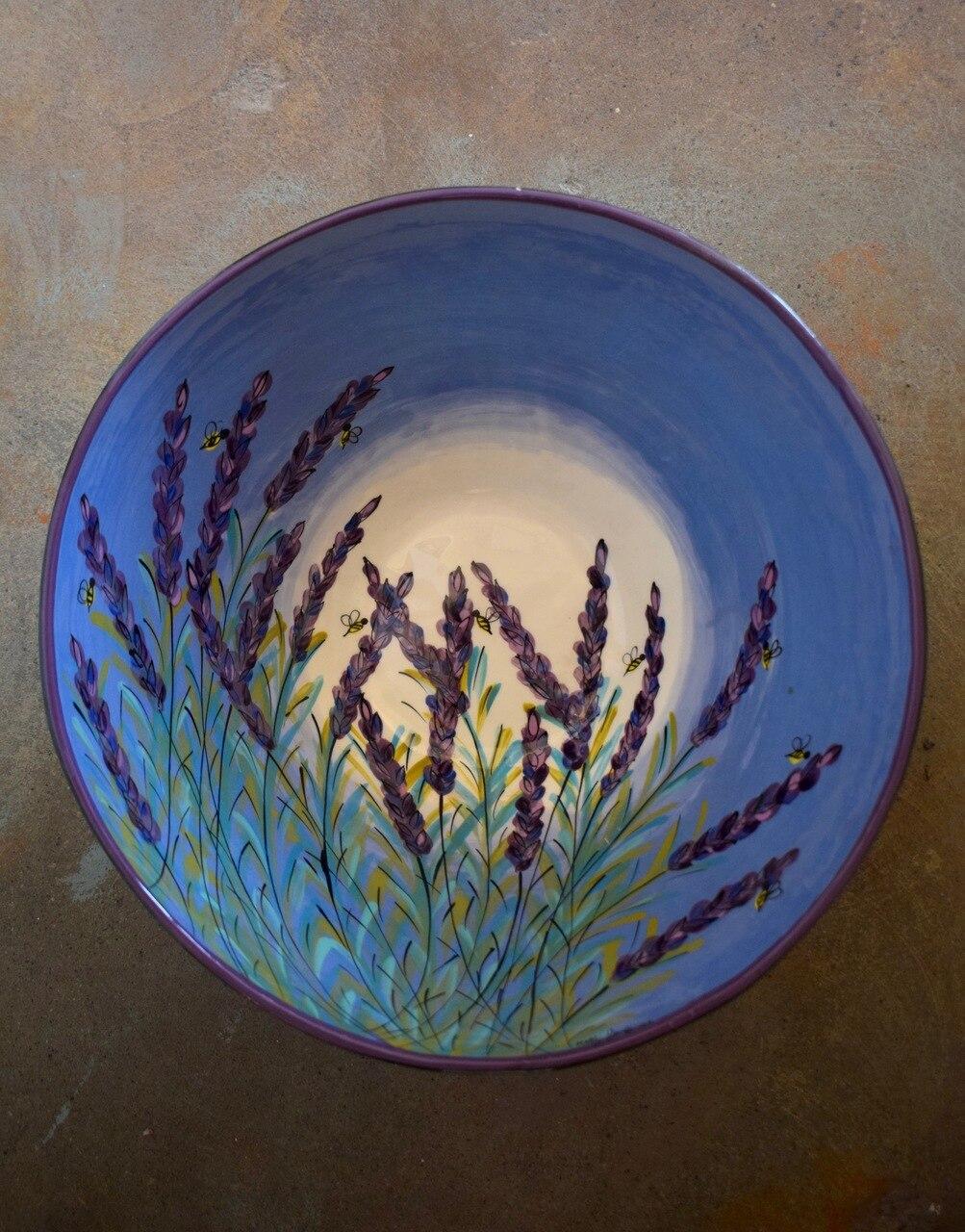 """(LB26-LM) 13"""" Large Bowl- Lavender Moon"""