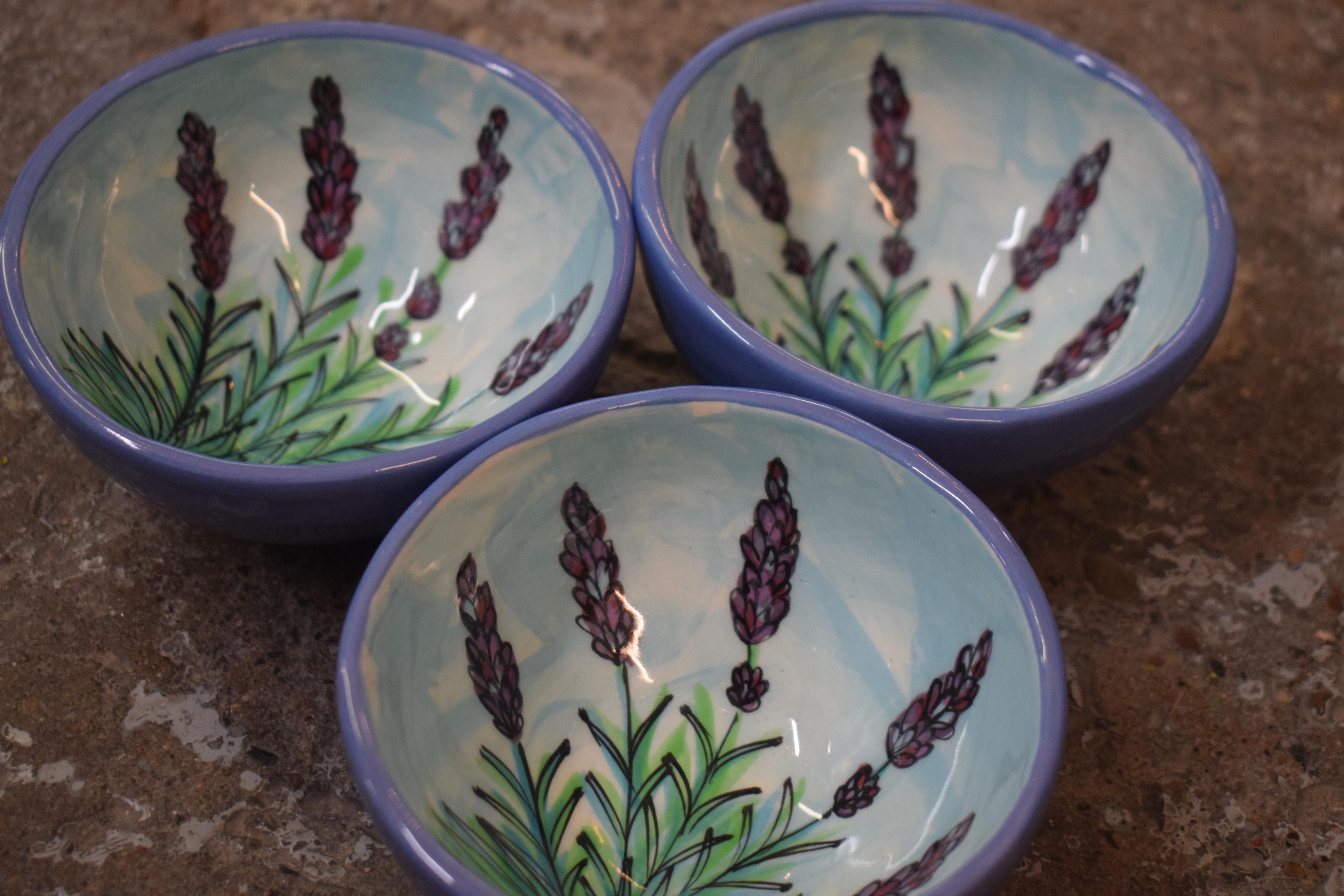 (PB00-EL) Salsa Bowl- English Lavender